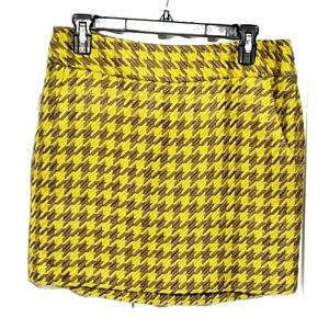 The Limited Tweed Checkered Mini Skirt